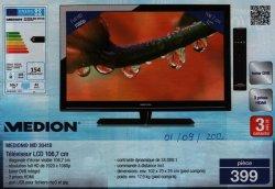 Image : Scan de la publicité d'Aldi du 01/09/2012 pour une TV LCD de 107cm Medion®